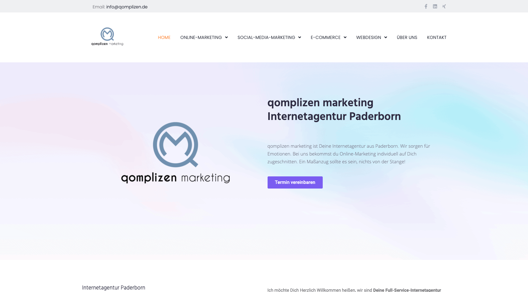 Internetagentur qomplizen marketing neu